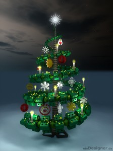 the first place of the Xmas Tree Design Contest 2010
