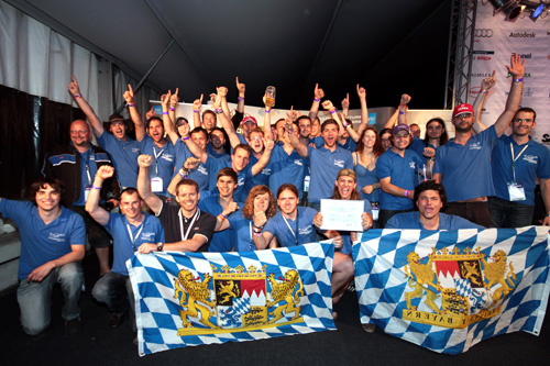 The Running Snail Racing Team won the award for the most innovative powertrain sponsored by BMW
