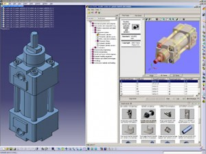 extensive library of international standard CATIA-native 3D parts