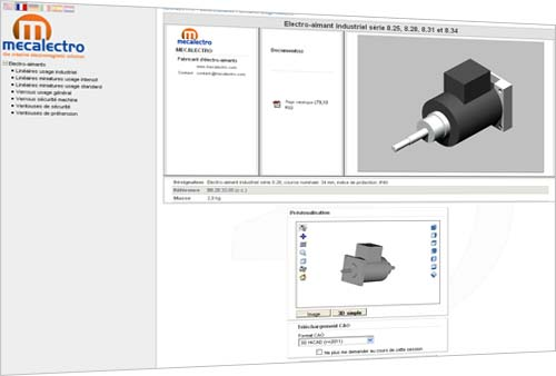 The Mecalectro website offers 3D views of its products