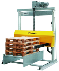 Winkel palette stacker, an example of the many handling and motion control systems that the company builds