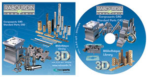 Rabourdin Industrie's parts libraries are available at TraceParts' website and on CD-ROM