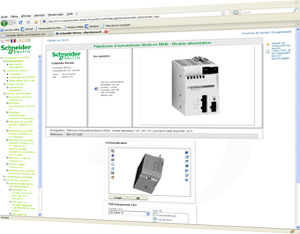 In the TracePartsOnline.net Parts library you can download CAD files of Schneider Electric