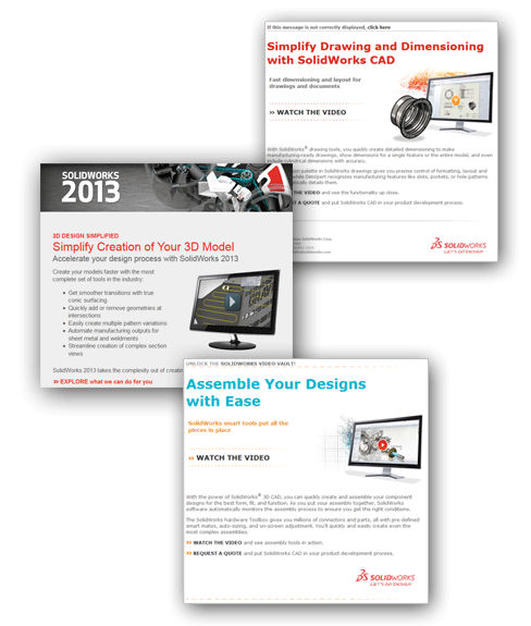 SolidWorks Emailing Campaigns