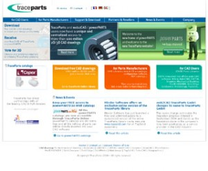 TraceParts.com 2006 Home page