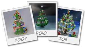 The winners of the Christmas Tree Design contest of the years 2009, 2010 and 2011