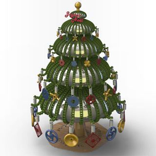 The winning Xmas tree of the 2008 contest