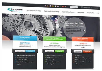 New website launched for TraceParts, a specialist in 3D marketing content