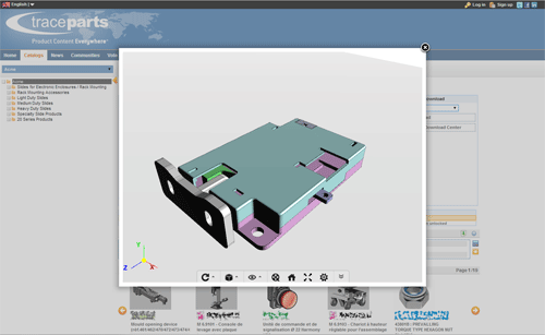TraceParts enables support for WebGL 3D rendering of millions of CAD models on TracePartsOnline.net