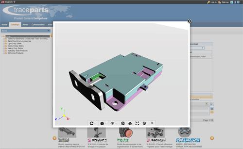 TraceParts schaltet den Support für die WebGL 3D-Wiedergabe von Millionen von CAD-Modellen frei