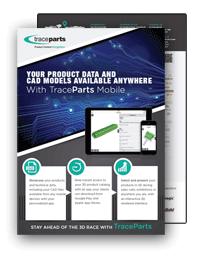 TraceParts Mobile App brochure