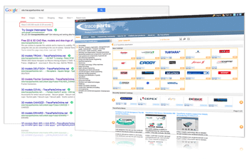 The TracePartsOnline.net 3D catalog library features over 2.4 million pages indexed in Google