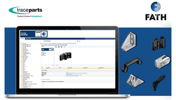 The 3D catalog from FATH is now available from the TraceParts CAD platform