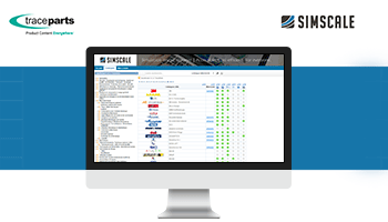 The TraceParts CAD platform now integrated with SimScale's browser-based simulation tool