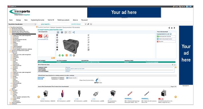 TraceParts CAD Platform in numbers