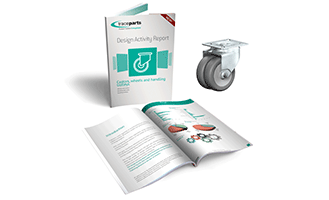 TraceParts releases key figures about the use of castors, wheels and handling trolleys in CAD projects