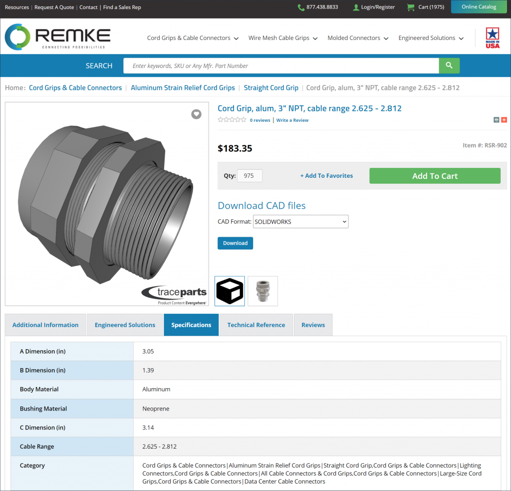 Remke website cord grip