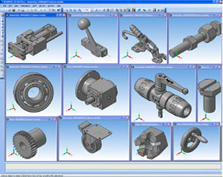 KOMPAS-3D provides direct access to TraceParts catalogs