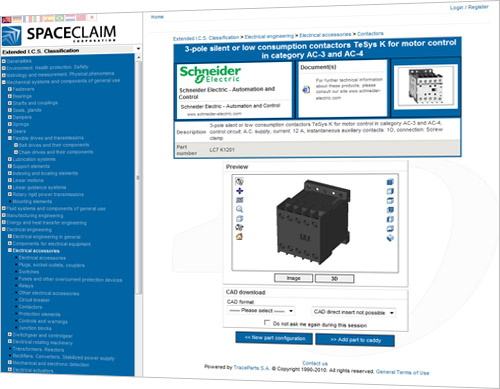 The new SpaceClaim 3D content portal brings considerable productivity benefits to the fast growing SpaceClaim user community