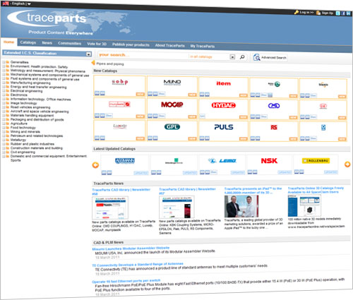 Availability of the third major release of the flagship portal TracePartsOnline.net