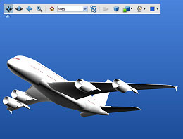 Manipulate with Adobe Reader a simplified model of the world largest commercial airplane
