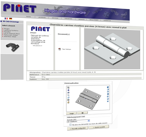 PINET Manufacturer of complete hinge, joint, bolting devices and fastening systems