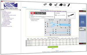 The new online parts library designed for VX 2009 users can be accessed via the VX software or directly at www.tracepartsonline.net/ws/vx