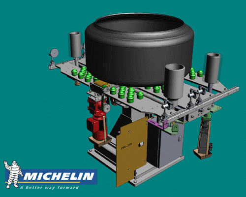 Azimuth alignment tool model designed by Michelin's Mechanical Engineering Design Offices