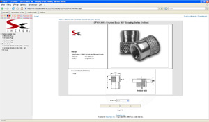 TracePartsOnline.net CAD library for Sherex rivet nut manufacturer