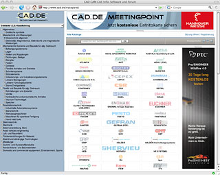 3D CAD Catalogs directly available on CAD.de