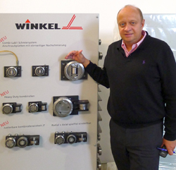 Christian Winkel, managing partner at Winkel GmbH, presents here some of his company's new products